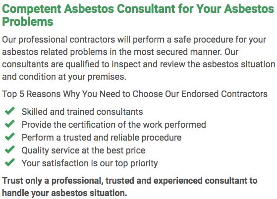 Asbestos Watch Rockhampton - consultan left