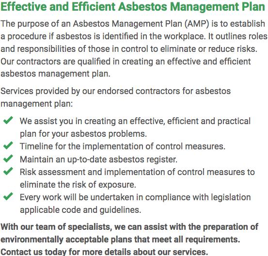 Asbestos Watch Rockhampton - plan right