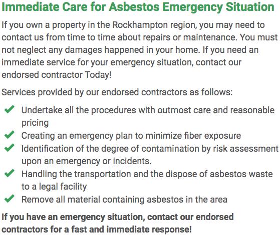 Asbestos Watch Rockhampton - emergency repairs Rockhampton