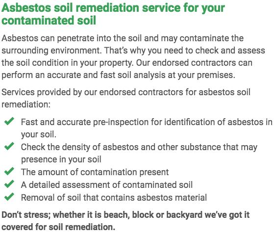 Asbestos Watch Rockhampton - soil remediation right